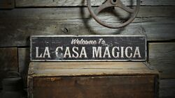 Custom Welcome Home Name Sign - Rustic Hand Made Vintage Wooden