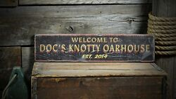 Custom Oarhouse Lake House Sign - Rustic Hand Made Vintage Wooden