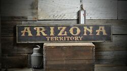 Distressed Arizona Territory Sign - Rustic Hand Made Vintage Wooden