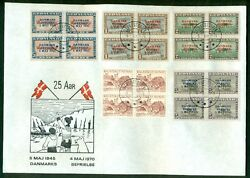 Greenland 1970 19-27 Complete Set Of Liberation Ovpts Blks On Anniversay Covers