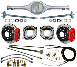Currie 67-70 Mustang Rear End And Wilwood Drilled Disc Brakesred Caliperslines+