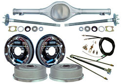 Currie 55-57 Chevy Rear End And 11 Drum Brakeslinesparking Cablesaxlestri-5