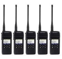 5 New Motorola 900 Mhz Dtr600 Radios And Chargers And Holster Replaces Dtr550 Dtr410