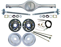 Currie Rear End And 10 Drum Brakes,lines,parking Cables,fits Jeep Mj Comanche