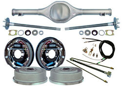 Currie Rear End And 11 Drum Brakes,lines,parking Cables,fits Jeep Mj Comanche