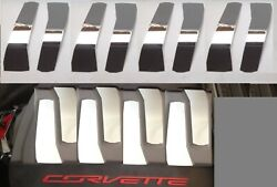 Fits Corvette C7 2014-2019 8 Pc Polished Stainless Engine Shroud Covers Chrome