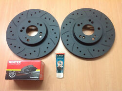 Civic Type R Ep3 Front Drilled Grooved Mtec Brake Discs And Mintex Pads And Lube