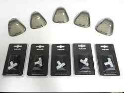 99-15 Ford F350 F450 Superduty 6 White Led Cab Roof Lights Lens Covers Smoke