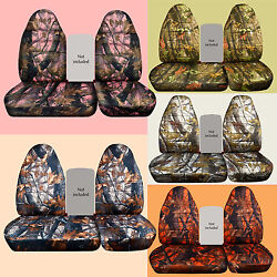 40-60 High Back Camo Car Seat Covers Fits 96-2004 Ford F150 No Console Cover