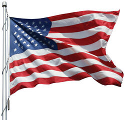 Us Endura-nylon Flag W/ Solarmax For Outdoors From 6and039 X 10and039 To 30and039 X 60and039