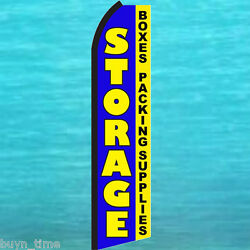 Storage Boxes Packing Supplies Flutter Feather Flag Swooper Vertical Sign Banner