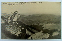 POSTCARD PROPOSED BUFFALO BILL MONUMENT ON WILD CAT POINT GOLDEN COLORADO #55fd9