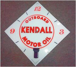 New 15 Kendall Outboard Boat Gas Oil Diamond Glass Clock Face For Pam Wwii