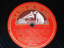 Chamber 2 X 78 Rpm Records Vsa Else Marie Bruun And Waldemar Wolsing Concerto Bach