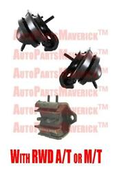 Engine And Transmission Mounts Fits Nissan Pathfinder 01-04 Front Wheel Drive
