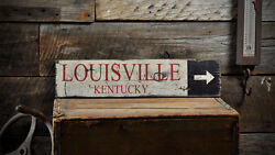 Custom City State Arrow Sign - Rustic Hand Made Vintage Wooden