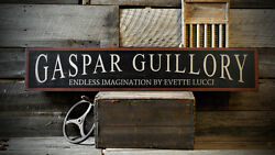 Custom Art Gallery Business Sign - Rustic Hand Made Distressed Wood