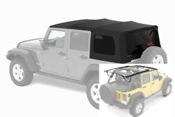 2007-2017 Jeep Wrangler Unlimited Factory Style Soft Top And Hardware Kit