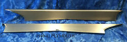 Plymouth Steel Running Board Set 1940-1941 - Made In Usa 16 Gauge