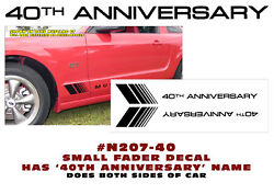 N207-40 2004 Ford Mustang Small Fader W/ 40th Anniversary Decal - Two Decals