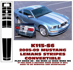 K115 2005-09 Mustang - Convertible Lemans Stripe - No Wing Or High Wing