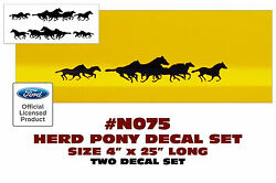 N075 Ford Mustang - Herd Pony Decal Set - Two Decals - 4 Tall