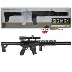 Sig Sauer Mcx .177 Cal Co2 Powered 30 Rounds W/ 1-4x24mm Scope Air Rifle Black