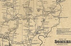 Somers Granite Springs Amawalk Ny 1867 Map With Homeowners Names Shown