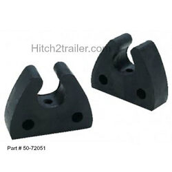 1 2/pk Rubber Pole Storage Clips For Boats - Poles 3/4 Inch To 1 Inch Od