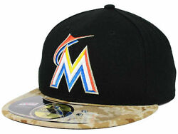 Official Mlb 2015 Miami Marlins Memorial Day New Era 59fifty Fitted Hat