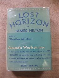 SIGNED + LOST HORIZON by James Hilton - 1st8th Morrow HCDJ 1934 - provenance