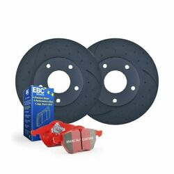 DIMPLED SLOTTED BMW X5 E70 *365mm* 2007 on FRONT DISC BRAKE ROTORS + EBC PADS