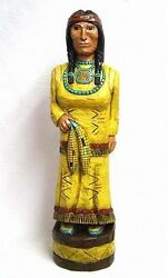 4and039 Cigar Store Indian Corn Maiden W Baby Papoose 4 Ft Yellow Frank Gallagher