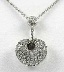 Heart Diamond Necklace 14k Wg With 1.36ct Diamonds By Aspery And Guldag