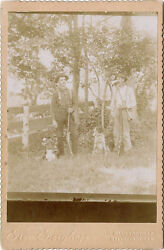 Hunters With Guns And Dogs Antique Outdoor Cabinet Photo Gloversville, Ny Studio