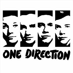 One Direction Wall Art Room Sticker Decal Portrait 1d Harry Niall Liam Louis
