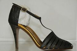 2070 New Python Crystal Buckle Ankle Strap Strappy Heels Shoes 38.5