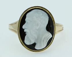A Hardstone Cameo Ring Depicting A Greek God Circa 1800andrsquos