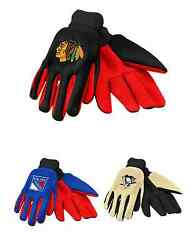 Nhl Hockey Team Logo 2015 Colored Palm Utility Work Gloves - Pick Your Team