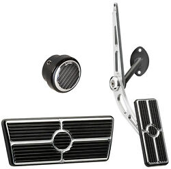 Billet Specialties Black Pedal Kitcable-style Gaspower Brakedimmer55-57 Auto