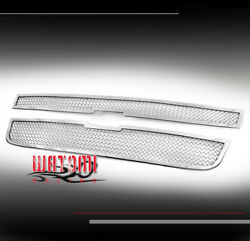 04-12 Chevy Colorado Front Upper Stainless Steel Mesh Grille Grill Insert Chrome