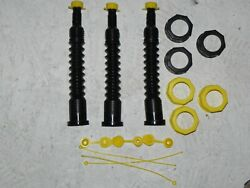 Gas Can Nozzle Spout 3 Kits 6 Adapters 1 Chilton Adapter Fits Most All Gas Cans