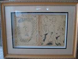 Pablo Picassodust Jacketfront And Back Cover Lithograph Iii Book.1956framed