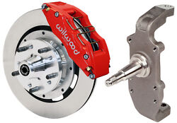 Wilwood Disc Brake Kit And 2 Drop Spindlesfront55-57126 Piston Redheidtand039s