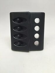 Marine Boat 4 Gang Waterproof Switch Panel Abs 12v Dc 3.8x4.3x1.4 Ul Approved