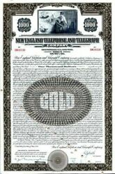 New England Telephone And Telegraph Co. 1000 Gold Bond -famous Cool Telephone