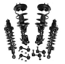 Front And Rear Strut Shock And Coil Spring Assembly + Sway Bar Stabilizer Links
