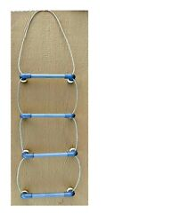 4 Step Cable Stainless Wire Rope Ladder Boat Pontoon Swimming Standoff Toe Room