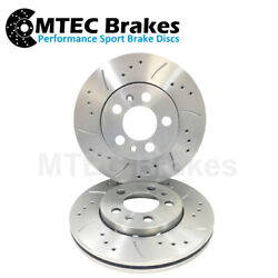Ford Mondeo Mk1 Mk2 Cougar 2.5 V6 St24 Front Drilled And Grooved Discs