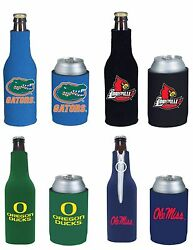 College Cooler Ncaa Bottle And Can Beer Soda Drink Holder- 2 Pack